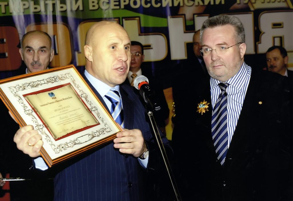 Михаил Мамиашвили - олимпийский чемпион, президент Федерации спортивной борьбы России (ФСБР).